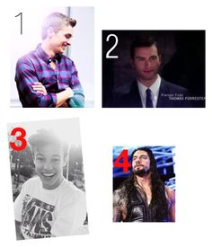 """Who should I date?"" by angellynn02 ❤ liked on Polyvore featuring WWE"