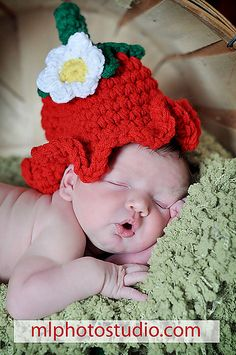 Ravelry: Strawberry Crochet Hat Pattern pattern by JTcreations