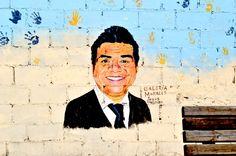 Rosarito Beach Baja California Mexico: George Lopez Mural in Rosarito