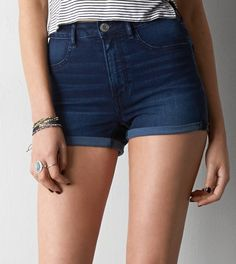 Dark Rinse AEO Sky High Shortie