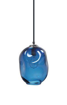 Steel Blue River Rock Hand Blown Glass Pendant Light Lighting Glass Pendants and Chandeliers by providenceartglass on Etsy https://www.etsy.com/listing/250580146/steel-blue-river-rock-hand-blown-glass