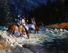 Hank Ford painting Native American Warrior, American Spirit, Native American History, Native American Indians, Native American Paintings, Indian Paintings, Eskimo, Western Theme, Le Far West