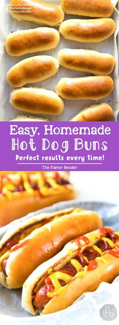 Easy Homemade Hot Dog Buns – The Flavor Bender These Easy to make Homemade Hot Dog Buns, are perfectly soft and delicious! This dough is versatile enough to be hot dog buns, subs, or hamburger buns, and absolutely easy to make! Dog Bread, Bread Bun, Hot Dog Rolls, Hot Dog Buns, Dog Recipes, Cooking Recipes, Bread Recipes, Fish Recipes, Icing Recipes