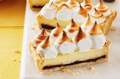 Parisian Lemon Tart—A hidden layer of decadent chocolate and a thyme-infused crust add surprising bursts of flavour to this twist on classic lemon meringue pie.