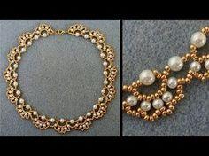 [Anleitung/Tutorial] Perlenkette mit Bögen (Necklace Rosana) - DIY [Perlen] - YouTube