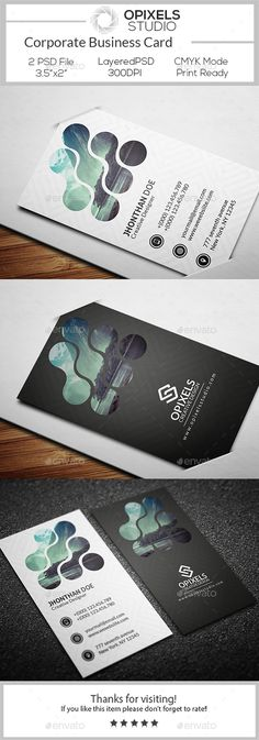 Corporate Business Card Template PSD