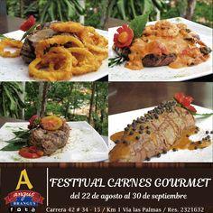 El Festival Gastronómico Carnes Gourmet, está conformado por 18 platos fuertes, preparados con carnes de calidad Brangus o Brahman. Disfrútalos hasta el 30 de septiembre.   Reservas: 2321632 .  Cra. 42 # 34 - 15 / Vía las Palmas.  Más Información: http://www.angusbrangus.com.co/2016/08/19/festival-gastronomico-carnes-gourmet-los-amantes-la-carne/   #MedellínSíSabe #PlanesEnMedellín #QueHacerenMedellín #dondecomermedellín #Medellín #RestaurantesMedellín #AngusBrangus #Festivalgastronomíco…