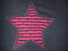 """Destroyed Negativ-Applikation auf Ottobre Kids """"Fly away""""-Shirt. Carla näht."""