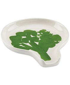 kate spade new york all in good taste Stoneware Broccoli Spoon Rest  Product Details: No one will refuse a serving of veggies when they're in the form of the bright, whimsical broccoli on this kate spade new york spoon rest. The stoneware rest adds practical flair to any kitchen. Stoneware Dishwasher and microwave safe