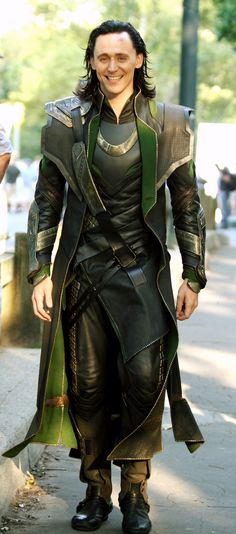 Tom Hiddleston on the set of The Avengers (2011)