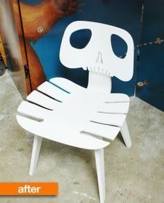 Before & After: This Chair Will Scare Your Socks Off