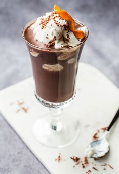 Warming Winter Cocktail   Hot Chocolate with Grand Marnier