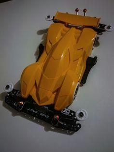 My mini 4wd build.  #trigale #mini4wd #custommini4wd