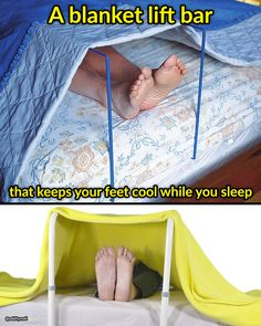 Tis blanket lift bar keeps your feet cool while you sleep Gadgets And Gizmos, Toot, Inventions, Beach Mat, Unique Gifts, Outdoor Blanket, Sleep, Bar, Cool Stuff