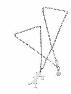 9edb577a6ed Karen Walker Sterling Silver Runaway Girl Pendant On Belcher Chain