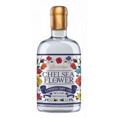 Chelsea Flower Gin Partridges Chelsea Flower Gin has been created in collaboration with Martin Murray, the highly acclaimed distiller from Rock Rose in Dunnet Bay, and is distilled on the north coast of Scotland close to the home of the Shepherd family's Best Wine Clubs, Premium Gin, Craft Gin, London Dry Gin, Drinks Logo, Gin Bottles, Beer Fest, Bottle Packaging, Chelsea Flower