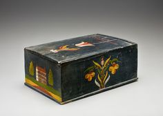 candle box, lancaster co. PA, dated 1851