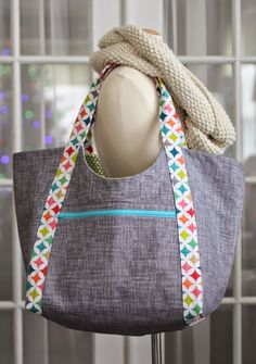 Poolside Tote - not in love with the handle fabric