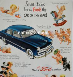 Retro Ford Car Magazine Ad/ Food Baby/ Vintage by mamiezvintage, $9.95