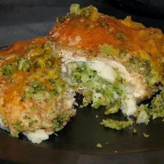 Rolled up chicken made in a deep dish covered baker in the microwave!