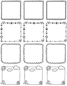 These really cute free printable Doodle Borders for labels are designed by Erin Rippy of InkTreePress. These doodle borders are in fillable and editable PDF templates. Use them as favor labels, shi…