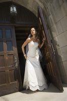 Cómo coser un vestido de novia desde la cintura