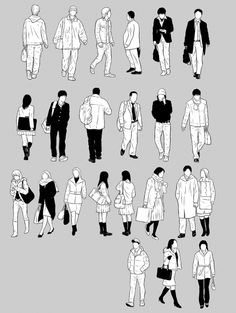 モブ240体セット - 漫画背景のダウンロードサイト【背景倉庫】 Human Figure Sketches, Figure Sketching, Urban Sketching, Figure Drawing, Human Dimension, Architecture People, Sketch Inspiration, Printable Stickers, Drawing People