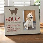 Definition of My Dog Personalized Photo Frame - 13595