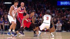 Brandon Jennings shakes 'n bakes and dishes to Kristaps Porzingis for the New York Knicks SLAM!