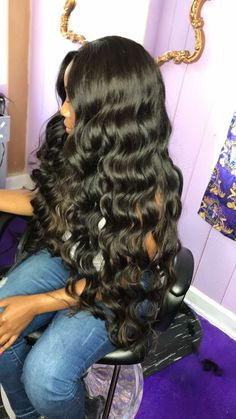 Rabake Brazilian Loose Wave Human Hair Bundles Non Remy Hair Extensions. - All About Hair Remy Human Hair, Human Hair Wigs, Curly Wigs, Curly Bob, Pretty Hairstyles, Wig Hairstyles, Black Hairstyles, Wedding Hairstyles, Long Weave Hairstyles