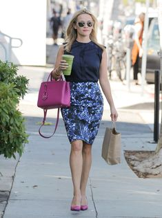 Reese Witherspoon with Summer's Coordinated Accessories - Vogue