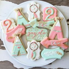 Loved making these tepee & dreamcatcher cookies. And how adorable is the name Saydi Love?!
