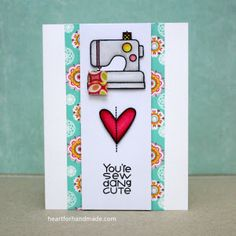 You're Sew Dang Cute card by Ria M. - Paper Smooches