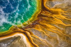 AERIAL VIEW OF THE GRAND PRISMATIC SPRINGS, MONTANA 2015