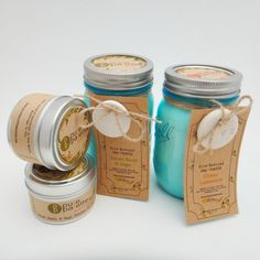 Vintage Ball Jar Soy Candle Aromatherapy Gift Set with 2 4Oz Travel Tin and Gift Box