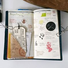 Midori travelers notebook pages for ideas and inspiration. Keeping a travel journal, sketchbook, scrapbook, or art journal