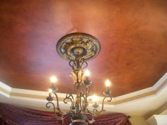 Leather look ceiling by Heather Thompson.