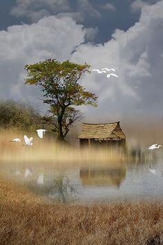 so beautiful landscape nature ♥♥♥♥♥ Beautiful Nature Pictures, Beautiful Nature Scenes, Beautiful Landscapes, Beautiful Places, Beautiful Landscape Photography, Fantasy Landscape, Landscape Photos, Landscape Art, Watercolor Landscape Paintings