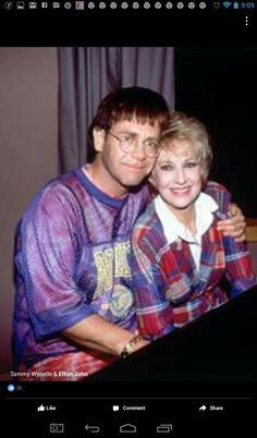 Elton John and Tammy Wynette