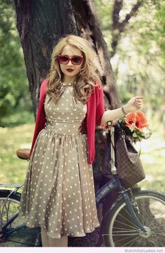 Wonderful polka dots dress