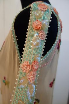 1920s beaded evening dress.