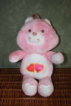 "Vintage Kenner LOVE A LOT  Bear Care Bear 1983 13.5 "" Stuffed Animal Plush pink"