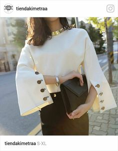 Cheap fashion women sweater, Buy Quality woman fashion sweater directly from China women sweater Suppliers: [CHICEVER] 2017 Spring Flare Sleeve Split O-neck Lady Female Tops Women Sweater Clothes New Fashion Korean New Bold Fashion, New Fashion, Trendy Fashion, Womens Fashion, Fashion Design, Fashion Trends, Fashion Spring, Korean Fashion, Ladies Fashion