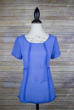 Chiffon blue hue dress top.