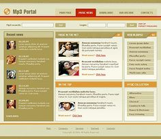 Portal Music Website Templates by Viola