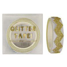 Meri Meri Gold Glitter Chevron Tape