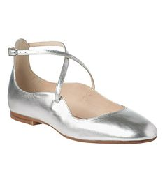 LK BENNETT - Nessie metallic leather flats | Selfridges.com  £116.00