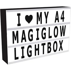 MagiGlow A4 Cinematic Light Up Your Life Letter Box Message Board with 100 Black Characters & Mains Adapter
