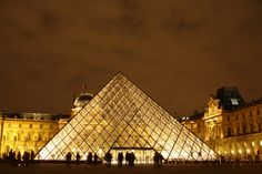 Built by I.M. Pei in Paris, France with date 1989. Images by Flickr user : Flavio Bragaia. In 1981, the newly elected French president, Francois Mitterrand, launched a campaign to renovate cultural institutio...