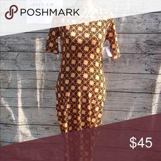 Lularoe julia s Orange pattern LuLaRoe Dresses Midi